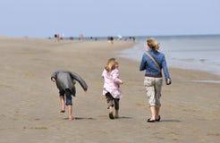 Svago alla spiaggia Fotografia Stock
