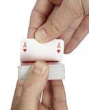 Svago del gioco di gioco della mazza delle schede di gioco Fotografia Stock