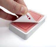 Svago del gioco di gioco della mazza delle schede di gioco Fotografie Stock Libere da Diritti
