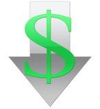 svagt dollarvärde Arkivbild