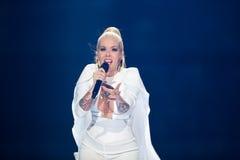Svala dall'Islanda al concorso di canzone di Eurovisione Immagini Stock Libere da Diritti