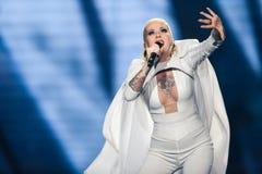 Svala dall'Islanda al concorso di canzone di Eurovisione Immagine Stock