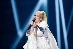 Svala dall'Islanda al concorso di canzone di Eurovisione Fotografie Stock Libere da Diritti