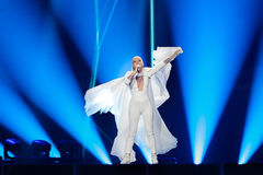 Svala dall'Islanda al concorso di canzone di Eurovisione Fotografia Stock