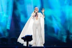 Svala dall'Islanda al concorso di canzone di Eurovisione Fotografie Stock