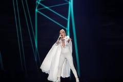 Svala dall'Islanda al concorso di canzone di Eurovisione Immagine Stock Libera da Diritti
