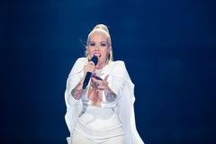 Svala from Iceland at the Eurovision Song Contest Royalty Free Stock Images