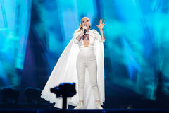 Svala from Iceland at the Eurovision Song Contest Stock Photos