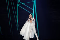Svala from Iceland at the Eurovision Song Contest Royalty Free Stock Image
