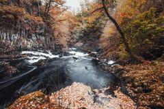 Svalanedgångar på hösten i den Snowdonia nationalparken, UK royaltyfria foton