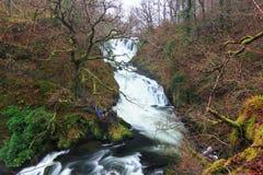 Svalanedgångar, Wales, UK Royaltyfria Bilder