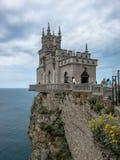 Svalas rede - en arkitektonisk monument av den Krim halvön royaltyfri bild