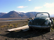 Svalbard abandoned Beetle. Abandoned Svalbard Beetle in artic desert Stock Photography