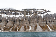 Svalbard arctic coastline Stock Photos