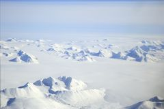 Svalbard Arctic Landscape Aerial. View, Norway stock photos