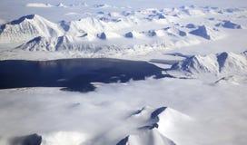Svalbard Arctic Landscape Aerial Stock Photos