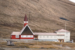 Svalbard church in Longyearbyen Stock Photo