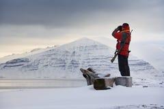 Svalbard Eilanden (Spitsbergen) Stock Afbeeldingen