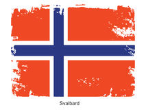 Svalbard flag Stock Photo