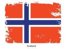 Svalbard flag Stock Photo