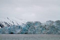 Svalbard gletsjer stock afbeelding