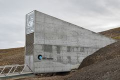 Svalbard Globale Zaadkluis stock afbeelding