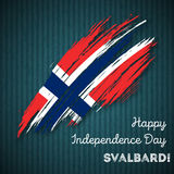 Svalbard Independence Day Patriotic Design. Stock Photography