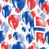 Svalbard Independence Day Seamless Pattern. Royalty Free Stock Photo