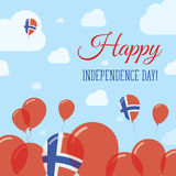 Svalbard And Jan Mayen Independence Day Flat. Royalty Free Stock Photos