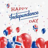 Svalbard And Jan Mayen Independence Day Patriotic. Svalbard And Jan Mayen Independence Day Patriotic Design. Balloons in National Colors of the Country. Happy Royalty Free Stock Photo