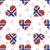 Svalbard And Jan Mayen independence day seamless. Svalbard And Jan Mayen independence day seamless pattern. Patriotic background with country national flag in Royalty Free Stock Photography