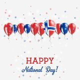 Svalbard And Jan Mayen Independence Day Sparkling. Svalbard And Jan Mayen Independence Day Sparkling Patriotic Poster. Happy Independence Day Card with Svalbard Stock Images