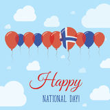 Svalbard And Jan Mayen National Day Flat. Stock Photos