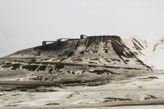 Svalbard Kolenmijn Stock Afbeeldingen