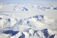 Svalbard Noordpoollandschapsantenne royalty-vrije stock afbeelding