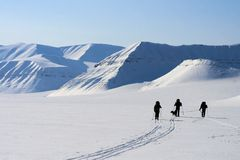 Svalbard, Noorwegen. Royalty-vrije Stock Afbeeldingen
