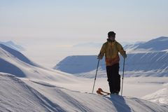 Svalbard Norge Arkivbild