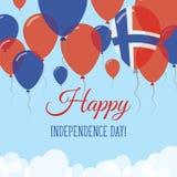 Svalbard och Jan Mayen Independence Day Flat Stock Illustrationer