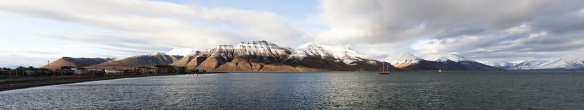 Svalbard panorama, Spitsbergen, Noorwegen royalty-vrije stock foto