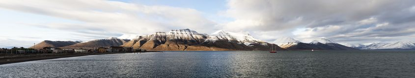 Svalbard panorama, Spitsbergen, Norway Royalty Free Stock Photo