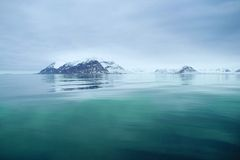Svalbard sea view stock photography