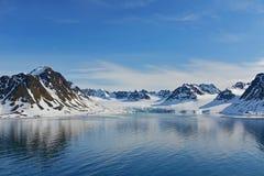 Svalbard Spitzbergen νησί στοκ εικόνα