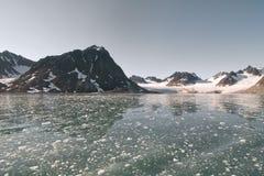 Svalbard Spitzbergen Glacier landscape Royalty Free Stock Image
