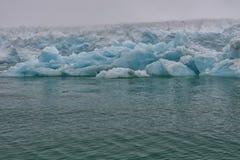 Svalbard Spitzbergen Glacier landscape Stock Photo