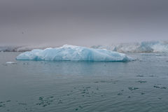Svalbard Spitzbergen Glacier landscape. Svalbard Spitzbergen Islands Glacier view with small iceberg Royalty Free Stock Image
