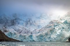 Svalbard Spitzbergen island glacier view. Magdalena Svalbard Spitzbergen island glacier view landscape panorama Stock Image