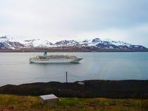 svalbard vista da montagem Olaf noruega Uma rota do turista Imagens de Stock Royalty Free