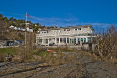 Svalerødkilen浴和旅馆 库存照片