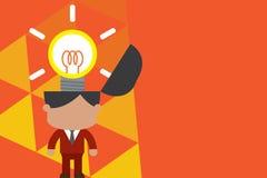 Svalla innovativ ljus inspiration St?ende manlig chefdr?ktslips som svaller briljant id? Mannen st?r den ljusa kulan vektor illustrationer