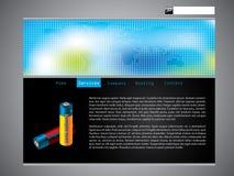 svalna designöversiktswebsiten Arkivbild